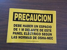 NEW ACCUFORM SIGNS SHMELC639VS Caution Sign, 7 x 10In, BK/YEL, Spanish (C4T)