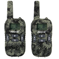 Kinderradio Retevis RT33 Walkie Talkies UHF LCD Flashlight PMR446 2-Way Radio