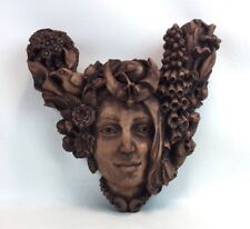 Dryad Design Mother Earth Plaque Candle Holder Large 2000 Paul Borde Collectible