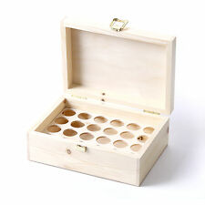 Wooden Aromatherapy Gift Box (Can Hold 24 x 10ml Glass Bottles) UK Manufactured