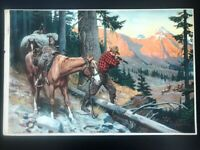 PHILIP R. GOODWIN HUNTER CALENDAR PRINT VINTAGE A CHANCE ON THE TRAIL AS-IS