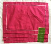 Kate Spade Solid Pink Placemats Lot of 4 NEW