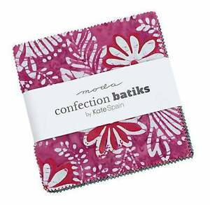 "Moda, Confection Batiks, 5"" Charm Pack, Fabric Quilting Squares, 27310PP, SQ61"
