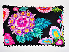 Imax Midnight Floral Accent Throw Pillow Black Decorative