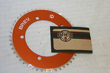 Brev. M Masi Fixie Fixed Gear ChainRing Sprocket Chain Ring 46t Orange 130 BCD