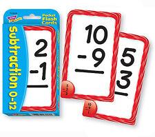 TREND kids childrens Math Subtraction Pocket Flash Card