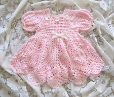 "Crochet Pattern for ""Baileigh"" Baby Dress by REBECCA LEIGH - 6-12 months"