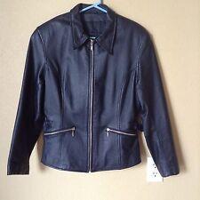Vtg Leather Motorcycle Jacket Wilsons Leather M Biker Side Belt