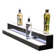 """54"""" Lighted Bar Shelving For Glass Liquor Bottles Bar or Home 2 step"""