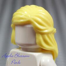 NEW Lego Female Minifig Yellow BLONDE HAIR Long Princess Braided Girl Head Gear