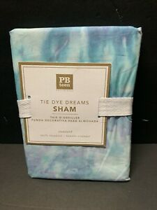 Pottery Barn Teen BLUE TIE DYE Dreams SHAM for Quilt Bed Bedroom NEW