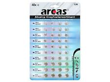 ARCAS 12794000  Knopfzellen-sortiment Alkaline 40-teilig