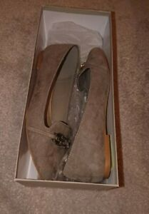 Carvela Kurt Geiger Grey Mangle Pumps Loafers Size 5 Work Smart flats suedette
