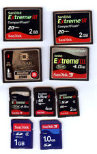 Compact Flash-SD card Lot of 9 Flash Memory Cards FREE SHIPPING