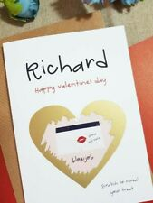 valentines card for husband boyfriend valentine's funny personalised custom va01