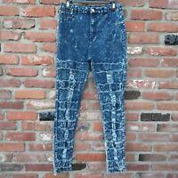 Bamboo Skinny High Waist Women's Jeans  Vintage Size 13 Acid Wash destroyed