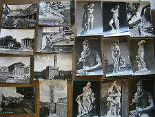 17 Vtg Glossy B&W Art Sculptures Postcards Florence Fiesole Assisi Italy 2517341