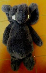JELLYCAT Bashful Elephant Soft Toy Plush Navy Blue