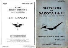 Douglas Dakota C-47 HISTORIC MANUALS RARE ARCHIVE WW2 1940's RAF Set DC-3 D-Day