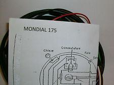 IMPIANTO ELETTRICO ELECTRICAL WIRING MOTO MONDIAL 175/ 4 TEMPI+SCHEMA ELETTRICO
