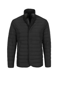 Armani Collezioni Men's Quilted Down Jacket Coat In Black Size TG 58 US 48