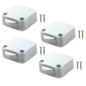 4X Pantry Switch for Cupboard Cabinet Door Light Closet White Electrical Tobin