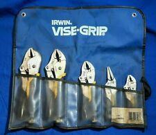IRWIN Vise-Grip locking pliers 5pc set 538KBSG 10R, 10CR, 7WR, 5WR, 6LN w/Pouch
