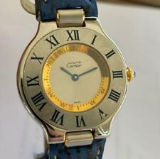 CARTIER MUST DE CARTIER 21 REF. 1330 TWO-TONE LADIES WATCH 100% GENUINE 31 MM