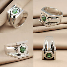 2.50ct Round Brilliant Green Lantern Power Inspried 925 Steling Silver Ring