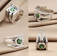 2.35CT BRILLIANT CUT GREEN LANTERN POWER INSPRIED925 STERLING SILVER RING+GIFT