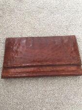 Crocodile Bag Purse Wallet Clutch Brown