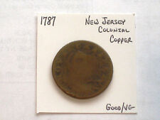 1787 New Jersey Colonial, Nova Caesarea Copper Coin, Good/VG