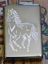 ANIMALS RUNNING HORSE ZIPPO LIGHTER FREE P&P FREE FLINTS