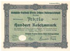Sächsische Gußstahl Werke Döhlen  1931 Freital
