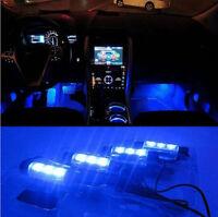 4x 12V Blue LED Car Auto Interior Dash Floor Decoration Floor Accent Light Lamp