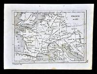 1835 Levasseur Map - France in 1813 Naploeon Empire Germany Austria Italy Europe