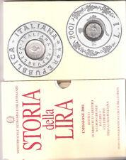 ITALIA STORIA DELLA LIRA DEL 2001 FDC 2 MONETE ARGENTO ....