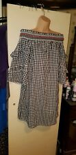 Ladies dress Casual F&F size 16 off shoulder frilly long sleeves checked
