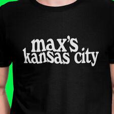 Max's Kansas City T Shirt S-XXL Maxs Black T-Shirt VENUE LOGO BRAND NEW UNISEX
