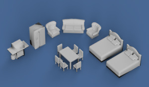 HO Scale House hold furniture items