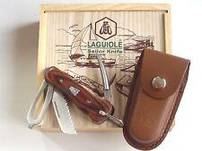 Laguiole Taschenmesser mit Tasche In Holzschachtel Unbenutzt.