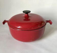 Cocotte rouge LE CREUSET modèle MAMA design ENZO MARI Années 70