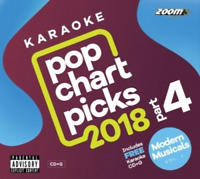 Zoom Karaoke Pop Chart Picks 2018 Part 4 CD+G &Modern Musicals Vol 1 (39 Songs)