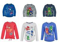 Boys Girls Kids Children Pj Masks Long sleeve Tshirt T-shirt Top age 3-8 Years