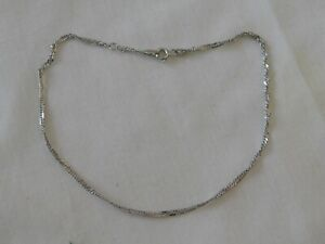 Milor 18K Solid White Gold Anklet Chain Bracelet Milor 18KT 750 Italy