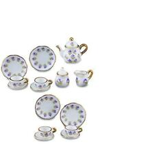 DOLLHOUSE Blue Flower Tea Set for Four 1.364/6 Reutter Porcelain Miniature