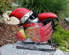Großer Rabe Vogel Metall mit Ski Langläufer lustiges originelles Deko- Highlight