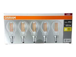 5er OSRAM E14 LED Lampe Birne Classic 4W wie 40W Warmweiß 2700K nicht Dimmbar