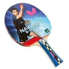 Nakama S-4 - Butterfly Table Tennis Bat with Rubber
