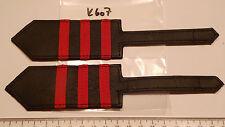 Bahn Schulterstücke Lokführer mit 3 roten Streifen für Lederjacke 1 Paar (k607)